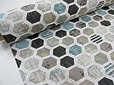 Aufnahmen Bedruckte Gewebe Canvas ref. Honeycomb beige,