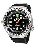 Grandi dimensioni 52 mm orologio subacqueo - telemann automatic. In vetro zaffiro T0285