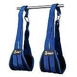DMoose Fitness Ab Straps - Sixpack Home Gym Exerciser - Doppeltes Trägerband und Nähte, reißfestes Material, längeres und Dickes Armpolster - Premium-Bauchmuskeltrainingsgerät für Herren Damen (Blau)