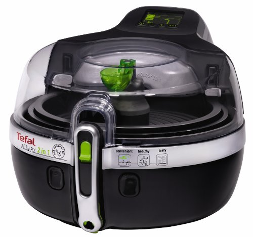 An image of the Tefal ActiFry 2-in-1 Low Fat Healthy Air Fryer, 1.5 kg - Black