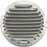 circulaire en aluminium Grille d'aération pour Ø 10,2cm (100mm), circulaire en aluminium Grille de ventilation 10,2cm (100mm), rond en aluminium Grille de ventilation avec filet, cuisine, hotte d'aération, Housse de cuisine hotte d'évacuation d'air Grille avec filet