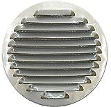 Aluminium Lüftungsgitter, rund Ø 12cm (120mm), Circular Aluminium Lüftungsgitter 12cm (120mm), rund Aluminium Lüftungsgitter mit Mesh, Küche Kapuze Air Vent Cover, Küche Kapuze Auspuff Gitter mit Mesh