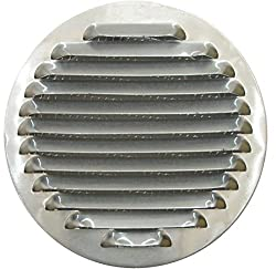 "Circular Aluminum Air Vent Grille Cover Ø 120 Mm, Circular Aluminum Ventilation Grille 4,72"" (120 Mm), Round Aluminum Ventilation Grille With Mesh, Kitchen Hood Air Vent Cover, Kitchen Hood Exhaust Grille With Mesh"