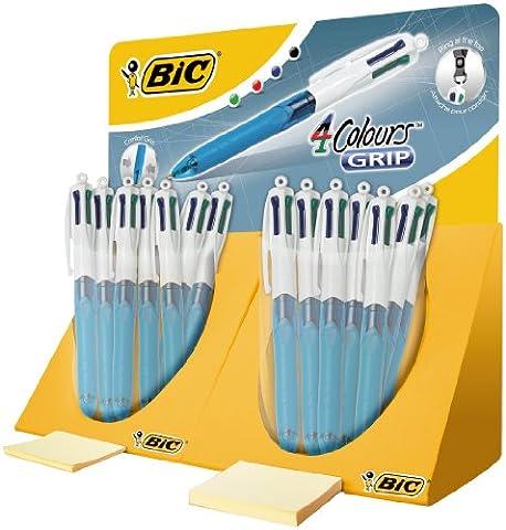 BIC Deutschland 4-Colour Retractable Ballpoint Pen Medium Grip, Display with