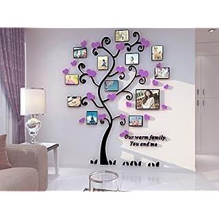 Alicemall 3D Wandaufkleber Stereo Wandaufkleber Abnehmbare Wohnzimmer Schlafzimmer Kinderzimmer Sofa Möbel Hintergrund Sticker Wandtattoo (Lila Baum)