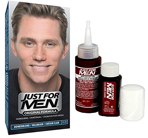 Just for Men -H25  - Pflege Tönungs Shampoo Haarfärbemittel, Natur hellbraun