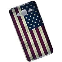 Slim Case for Samsung Galaxy J3 (2016) J320. Tasche Cover. USA Flag.