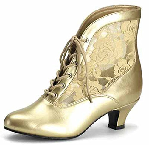 Higher-Heels Funtasma Schuhe für Grand Dames: Dame-05 mattgold Gr. 43