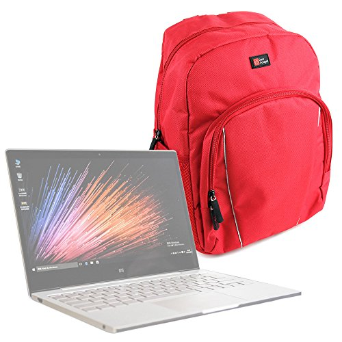 "Amazon Mochila Para Xiaomi Mi Notebook Air 12.5"" / 13.3"" + Funda Impermeable - Roja - Alta Calidad - DURAGADGET"