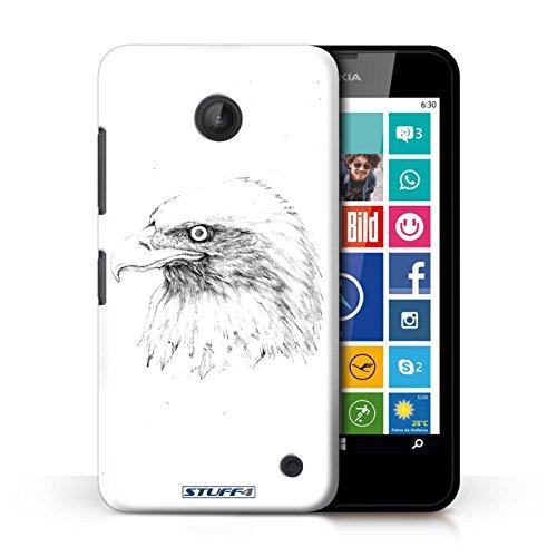 Kobalt® Imprimé Etui / Coque pour Nokia Lumia 635 / Cheval conception / Série Dessin Croquis Aigle / Oiseau