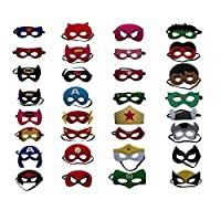 Superhero masks party favors for kids and birthday supplies 30set for kids party