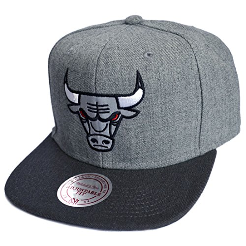 Mitchell & Ness Snapback Cap Chicago Bulls Heather Reflective (Synthetischen Ball Nba)
