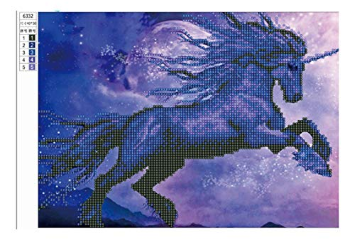 ntasie Lila 5D Diamant Malerei Kreuzstich Diamant Stickmuster Dekorative Strass Mosaik 30 * 40 cm, A ()
