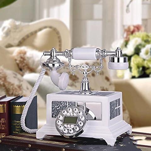 25 * 20 * 25cm creativo antica resina vernice ruggine telefoni, telefono fisso fisso ornamenti decorativi di moda