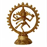[Sponsored]Religious Natraj Figurine For Dancing Shiva Statue Pooja Worship Made From Brass Decor - Temple Worship - Gift - Art - Craft - Puja Metal Decor - Home Decor - Office Decor - Table Decor- Showpiece - Hindi Idol - Brass Statue - Murti - Sculpture