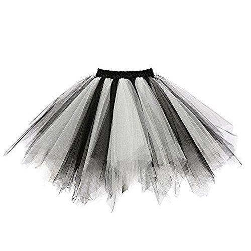 bestshope Damen langes Kleid, Womens Qualität Plissee Gaze Knielangen Rock Erwachsene Tutu Tanzen Rock Slim Fit Siamesisch Kleid Bekleidung Streetwear-Kleider Kostüm Thema Partei ()