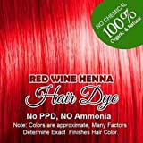 Henna Hair Color – 100% Organic and Chemical Free Henna for Hair Color Hair Care Red Wine Henna Henna Hair Dye 120 Grams (2 Pa...
