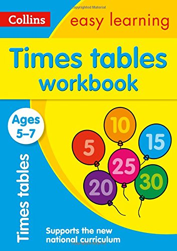Times Tables Workbook Ages 5-7: New Edition (Collins Easy Learning KS1) por Collins Easy Learning
