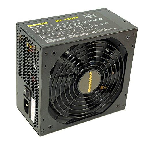 Rhombutech® 1000 Watt ATX Netzteil - Gaming - Saving Power - Kabelmanagement - Aktiv PFC - 140mm kugelgelagerter Lüfter - ! Hinweis: Dieses Netzteil nicht für Bitcoin-Miner geeignet ! (Computer-netzteil 1000w)