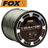 Fox Torque line low vis green 700m 0,42mm 11,73kg - Karpfenschnur zum Angeln auf Karpfen, Monofile Schnur zum Karpfenangeln
