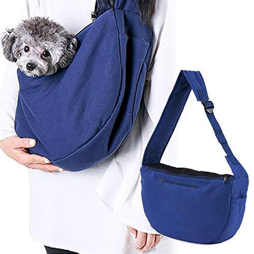 Louvra Hund Tasche Single-Schulter Hunderucksack Katze Umhängetasche -