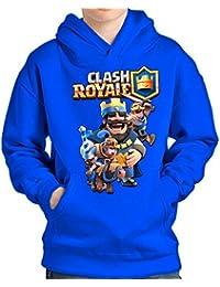 SUDADERA Clash Royale Rey (S, Azul)