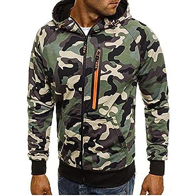 Sannysis Herren Slim Fit Hoodie Herbst Winter Tarnung Sweatshirt Hoodie Sweatjacke Pullover Camouflage Kapuzenpullover