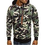 Luckycat Herren Camouflage Zipper Pullover Langarm mit Kapuze Sweatshirt Tops Bluse Mode 2018