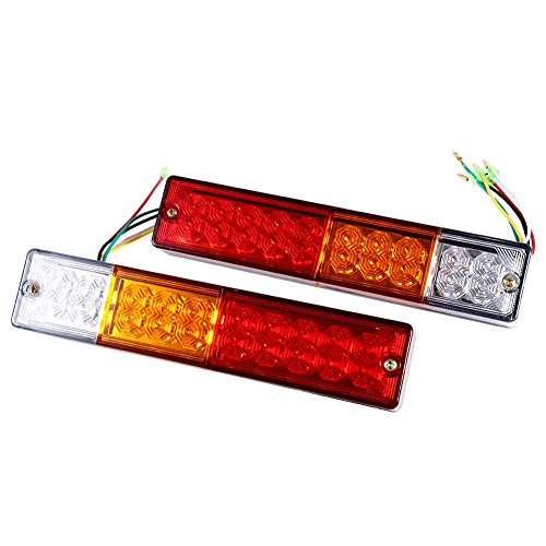 Led-bremslicht Anhänger (VGEBY 1Paar Anhänger Rücklicht LED Heck-Bremslicht Hinten Kennzeichenleuchte Mit Hoch Helligkeit 20 LED 24V 12V Für /LKW/Anhänger/Lastwagen ( Edition : 12V ))