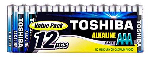 TOSHIBA 12 AAA Micro, LR3 Batterie Alkaline 1,5V Extra Power, 1 x 12er Pack, f�r Kamera Uhren Spielzeug Computermaus sofort einsatzbereit