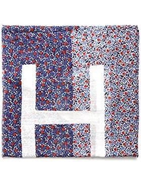 TOMMY HILFIGER Tuch Allover Druck Blumen Muster blau/rot/weiß
