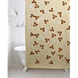 Kuber Industries PVC Shower Curtain - 7ft, Cream