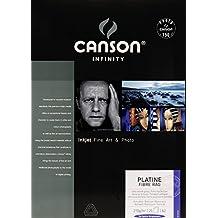 Canson Infinity Platine Fibre Rag 310 g/m2 - Papel fotográfico, caja 25 hojas, A2-42 x 59,4 cm
