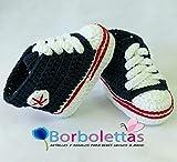 Patucos para Bebé Recién Nacido tipo Converse, 0-3 meses Azul...