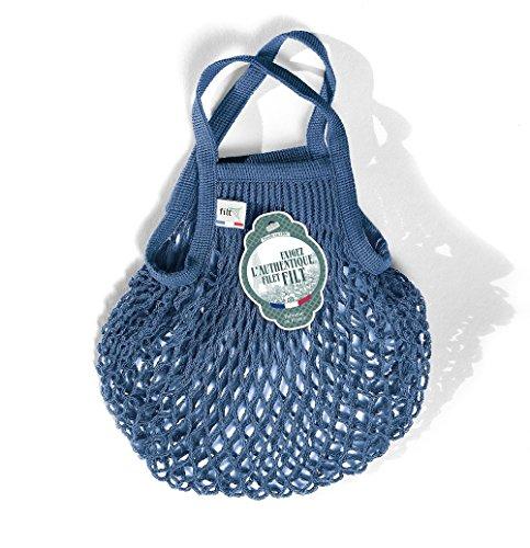 Filt Einkaufsnetz/Einkaufstasche/Netztasche/Net Bag aus Baumwolle, small Size, (Jeans)