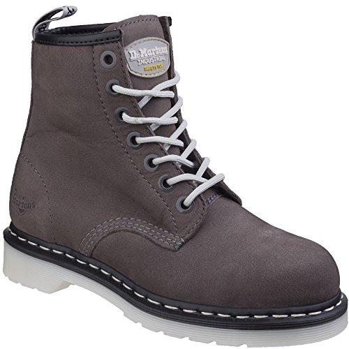Dr. Martens Work Women's Maple Steel Toe 7-Eye Boot Grey 4 B UK Eye Steel Toe Boot