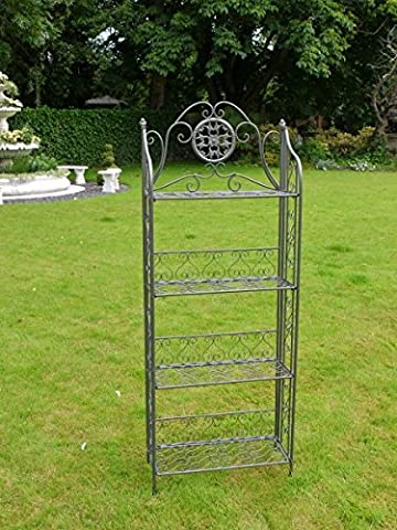 FOUR Tier Metal Bakers Rack Stand ~ Gun Metal Grey Finish