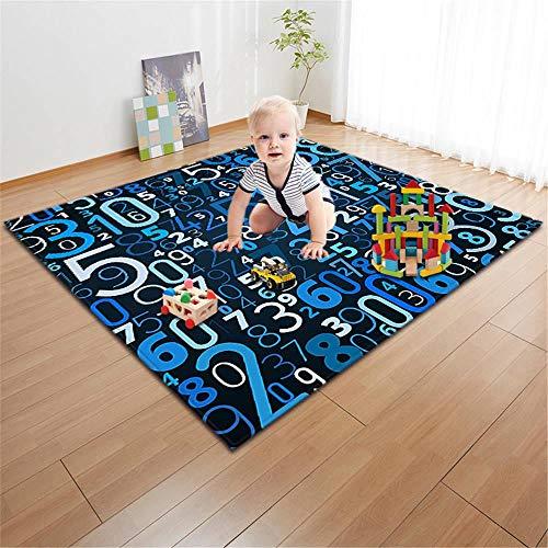 ASDLJLAJD Teppich Nordischen Stil Kinderzimmer Wohnzimmer Teppich Baby Spiel Pad Weichen Kriechenden Teppich Puzzle Digital Lernen Weichen Flanellboden Teppich Teppich (Lernen Teppiche Für Kinder)