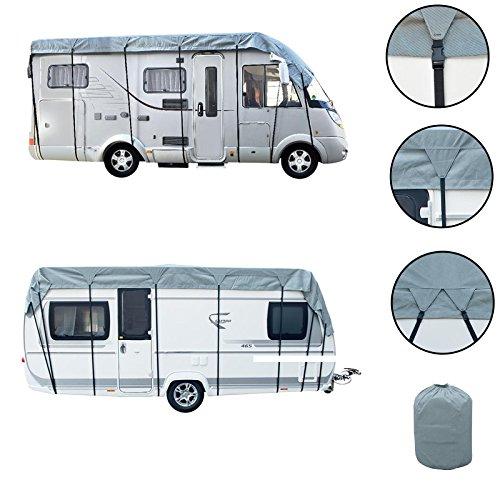 Wohnwagen & Wohnmobil Schutzdach 5 bis 8 Meter Länge, 3 Meter Breite, 3 Schichten 160g, Winter geeignet