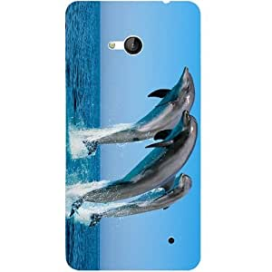 Casotec Dolphins Jump Water Design 3D Printed Back Case Cover for Microsoft Lumia 640