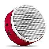YUXIAO Bluetooth Lautsprecher Drahtlose Metall Tragbare Lautsprecher Großes Volumen Verbesserung Bass Wasserdichte Eingebautes Mikrofon Familientreffen/Abendessen Im Freien/Geschenk,Red