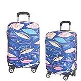 Kofferschutzhülle Elastische Kofferhülle Reisekoffer Hülle Koffer Schutzhülle Abdeckung Luggage Cover mit Reißverschluss (Fisch, XL)