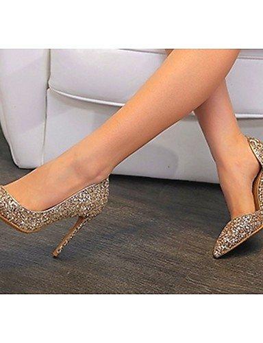 WSS 2016 Chaussures Femme-Mariage / Bureau & Travail / Habillé / Décontracté / Soirée & Evénement-Argent / Or-Talon Aiguille-Talons-Chaussures à silver-us6.5-7 / eu37 / uk4.5-5 / cn37