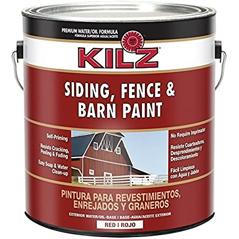 KILZ Exterior Siding, Fence, and Barn Paint, Red, 1-gallon by Kilz