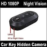 u-shop Mini caméra espion clé de voiture Full HD 1080p Enregistreur vidéo numérique cachée & de haute qualité Télécommande pour alarme de voiture DVR caméra avec détection de mouvement, vision nocturne, Webcam PC fonctionnalité