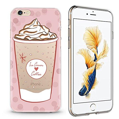 Panelize iPhone 6 Summer Hülle Schutzhülle Handyhülle Hard Case Cover Kratzfest Rutschfest Durchsichtig Klar (Katzeneis) Ice Coffee