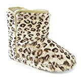 Best Universal Textiles Women Slippers - Universal Textiles Womens/Ladies Leopard Print Furry Boot Slippers Review