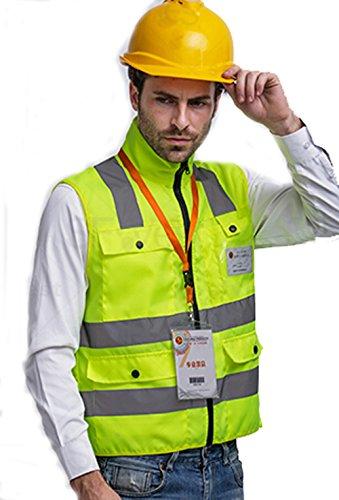 Giubbotto di Sicurezza da Lavoro con Alta Visibilità Verde L