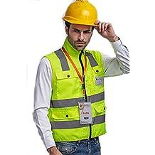 Chaleco Reflectante Ropa Alta Visibilidad Ropa de trabajo De seguridad Ropa reflectante Con cremallera