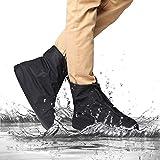 2win2buy Überschuhe Schuh Überzug Wasserdicht Regendicht Wetterfest Rutschfest für Radsport Fahrrad Bike Gaiter Radfahrer in Schwarz